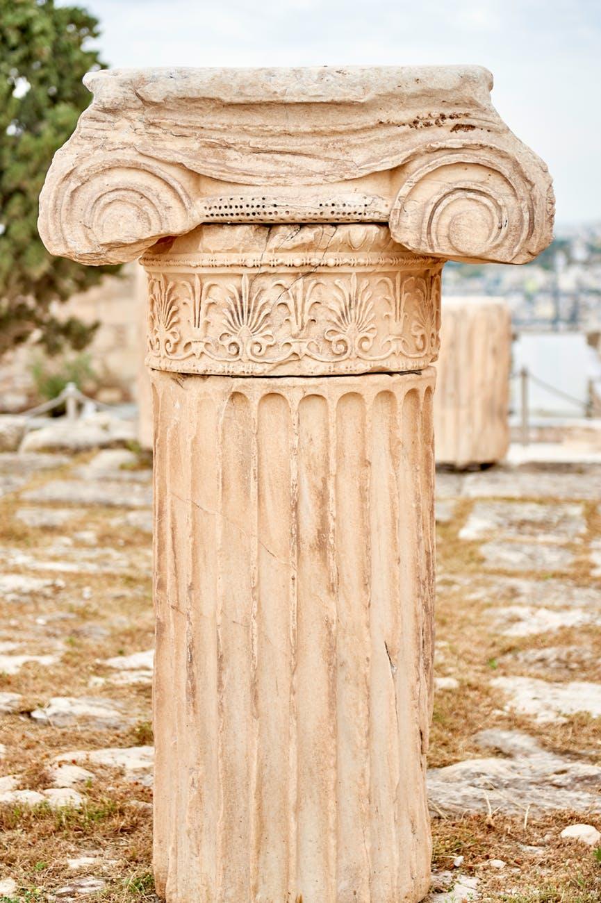 beige concrete pillar